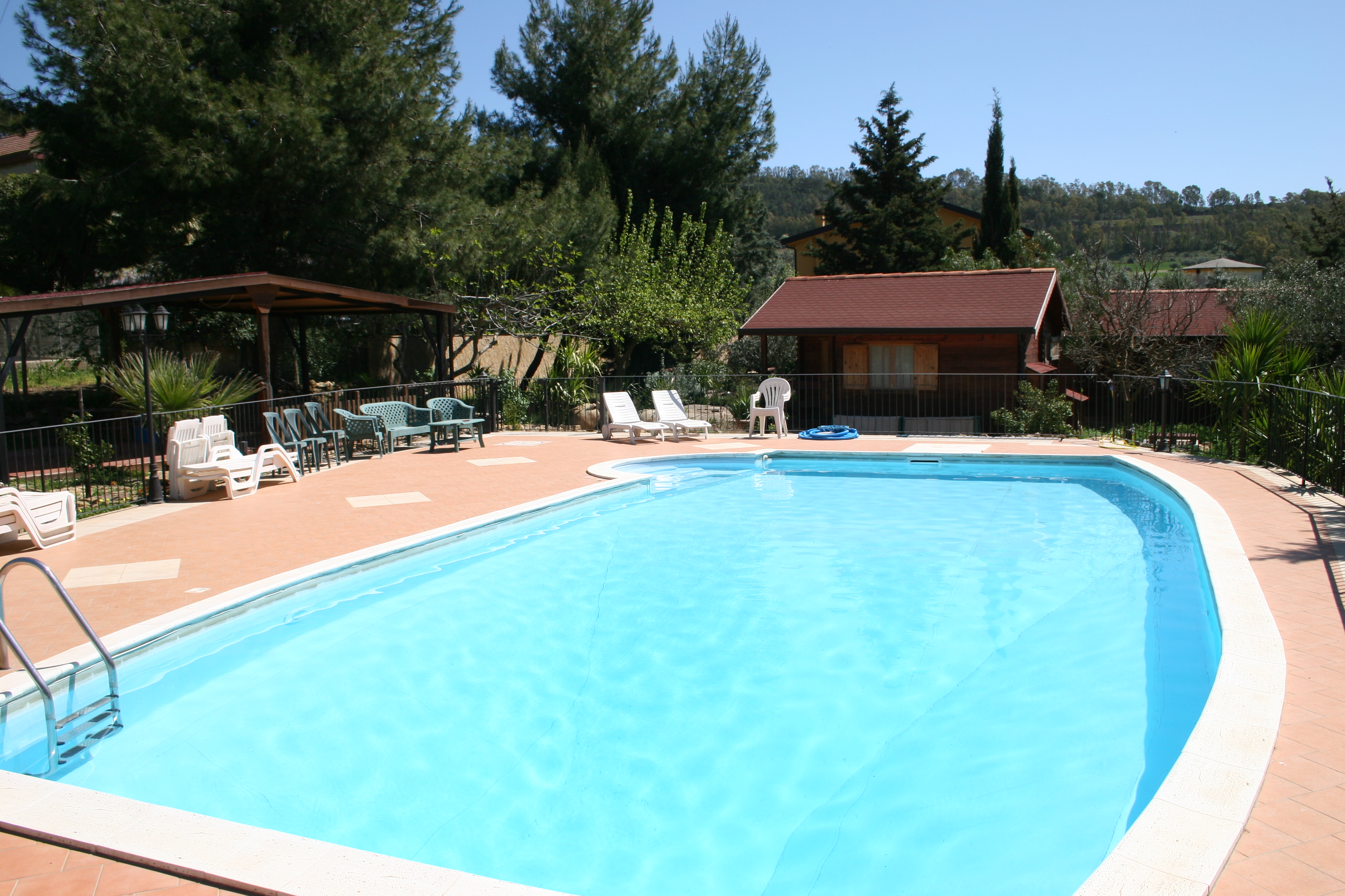 Panoramica area piscina